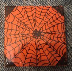 Creepy Halloween spider. (09/2021) Halloween Spider, Creepy Halloween, Kindness Rocks, Paint Pens, Painted Rocks, Pumpkin, Concept, Rock Painting, Artist