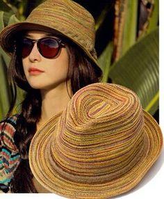 sombrero coloridos de dama - Buscar con Google Sombreros cc7f549d6ee