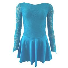 65591bdb722f The Zoe Dance Dress by Starlite - featuring a lace body and long sleeves  with finger loop and a Lycra skirt.