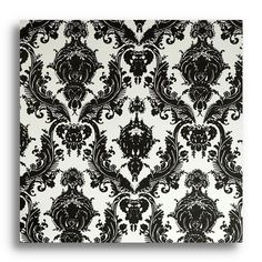 *** for my master bedroom headboard wall.Find it at the Foundary - Damsel Repositionable Self Adhesive Wallpaper - Black / White