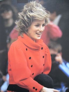 February 1986: Princess Diana on a walk about in Brixton, London.