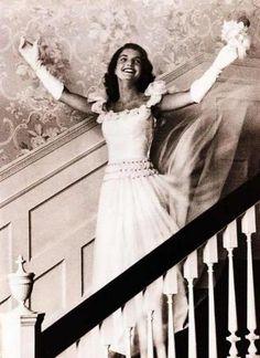 Jackie Kennedy on her wedding day.