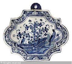 LATE 17TH-EARLY 18TH CENTURY DUTCH-DELFT FAIENCE CHINOISERIE Lozenge SHAPED PLATE