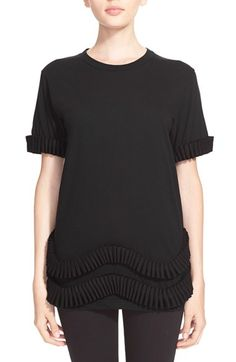 CAITLIN PRICE Pleat Appliqué Cotton Tee available at #Nordstrom