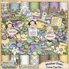 Save 70% today only on Mother Dear I Love You So by Let Me Scrapbook   #thestudio #dailydeals #digitalscrapbooking