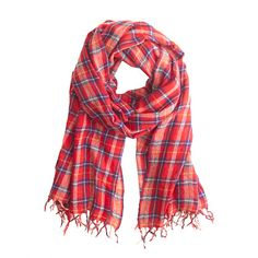 Quite possibly our favorite part about winter—wrapping up in a huge cozy plaid scarf. That, and hot cocoa.
