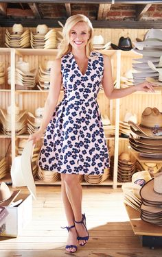 Dinah Floral Rosewood Dress | Draper James | Reese Witherspoon