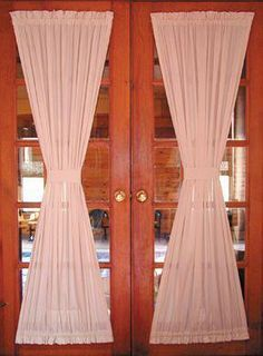 Top Ten Reasons For Choosing French Doors Door Panel Curtains, French Door Curtains, Curtain For Door Window, French Doors Patio, Patio Doors, Door Panels, Country Curtains, Entry Doors With Glass, Front Doors With Windows