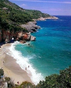 Mylopotamos Beach, Pelion, Greece. Mylopotamos beach is very popular in the summer and it attracts both youth and families. It is a small beach considering its popularity, and it does feel a bit crowded in the summer.