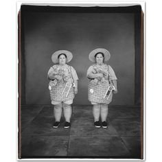 Beth Whitaker and Judith Fischer, 39 years old, Beth older by 10 minutes, Mary Ellen Mark, Face M, Two Of A Kind, Identical Twins, Twin Girls, Documentary Photography, Triplets, Studio Portraits, Pop