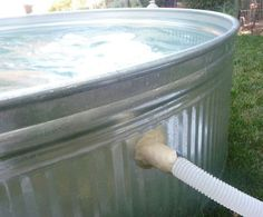 tutorial for stock tank swimming pool...old ideas are new again--