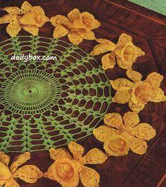 Free Vintage Crochet - Daffodil Doily Pattern