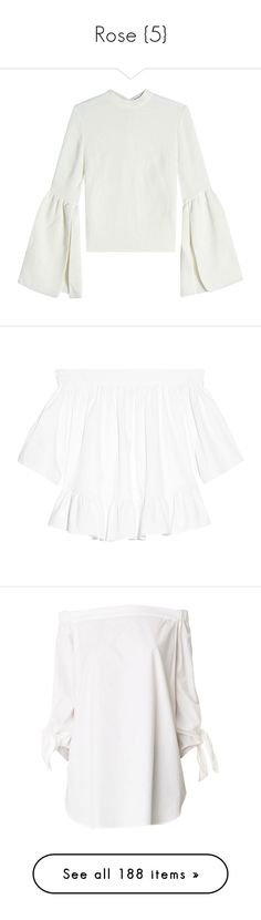 """Rose {5}"" by cruise-to-the-blues ❤ liked on Polyvore featuring tops, blouses, shirts, white, white top, white pintuck blouse, pintuck shirt, white shirt, pintuck blouse and elizabeth and james"