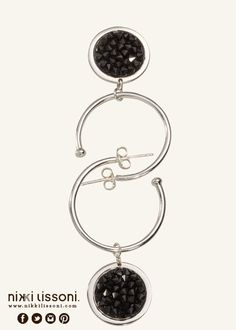 #NikkiLissoni earrings and earring coins (available at shop.nikkilissoni.com)