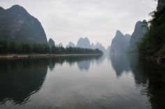 Li River at Yangshuo, Guilin, China, via Flickr.