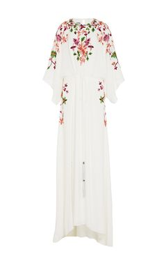 M'o Exclusive Floral Embroidered Caftan by MONIQUE LHUILLIER for Preorder on Moda Operandi