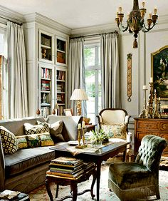 Like the glassed-in floor-to-ceiling bookcase.