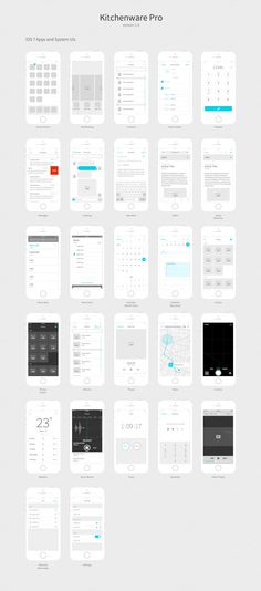 Kitchenware Pro - iOS Wireframe Kit by Neway Lau on @creativemarket
