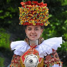 Traditional bride costume from Schaumburg-Lippe, Germany