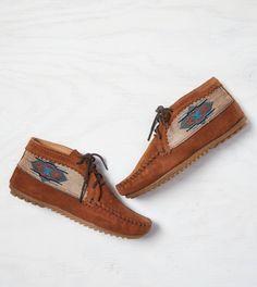 Brown Minnetonka El Paso Ankle Bootie