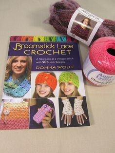 #AllFreeCrochet Enter to win the Broomstick Lace Book and Yarn Bundle: With 128 pages full of 20 finished designs of beautiful broomstick lace patterns, you are sure to find something you'll want to make. This book is an updated take on the vintage art of broomstick lace with easy-to-follow photo tutorials. Made with a large needle and a crochet hook, the projects within the book work up quickly.