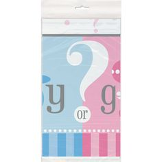 <LongDescription>Build the excitement of your gender reveal with our Plastic Gender Reveal Table...
