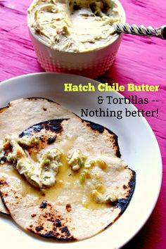 Hatch Chile Butter - creamy with a pop of flavor from the Hatch chiles and garlic. You& want to spread this on grilled corn and tortillas. Hatch Green Chili Recipe, Green Chili Recipes, Hatch Chili, New Mexico Green Chili Recipe, Hatch Recipe, Mexican Dishes, Mexican Food Recipes, Mexican Meals, Mexican Butter Recipe