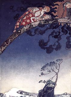 """""""And flitted away as far as they could from the Castle that lay East of the Sun and West of the Moon."""" Kay Neilsen, East of the Sun West of the Moon"""