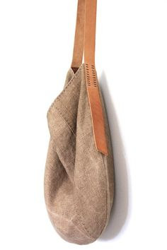 Handmade Belgian Linen Slouch Bag Sun Kissed Chaparral by groslie My Bags, Purses And Bags, Sacs Design, Clutch Bag, Tote Bag, Slouch Bags, Look Boho, Linen Bag, Casual Bags