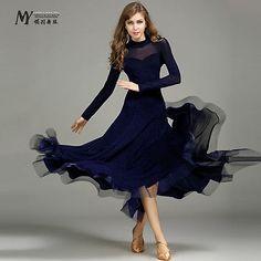 2017 NEW Ladies Modern Waltz Tango Latin Ballroom Competition Dance Dress #MY700