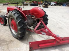 Rear of Ferguson 35 tractor with red blade