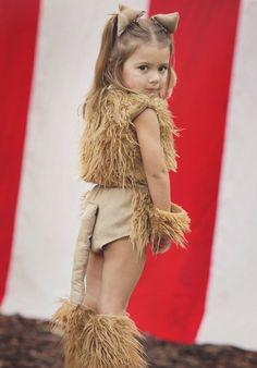 lion costume idea. Fur vest, tail and leggings.