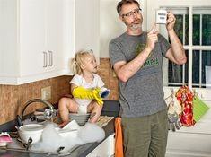 World's Best Father: Dave Engledow with Daughter Alice Bee