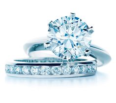 Tiffany Engagement Ring set. This is actually a dream