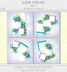New Release: Cluster Templates Vol 4 by Ilonka's Scrapbook Designs! DigitalCrea; http://digital-crea.fr/shop/index.php?main_page=product_info&cPath=155_323&products_id=21293. 09/01/2015