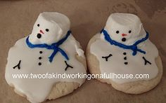 holiday desserts - melting snowman cookies!
