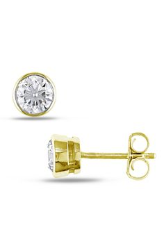 0.33 ct Diamond Solitaire Earring In 14k Yellow Gold