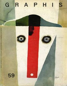 Graphis, the pioneering Swiss design magazine founded by Walter Herdeg (1908-1995)  | Cover art  George Giusti, 1955
