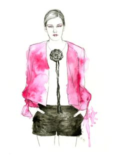 Sass & Bide Fashion illustration by meegan barnes
