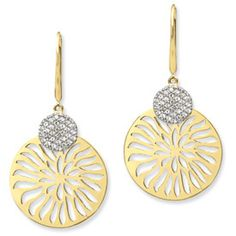 one of my favorite of our collection - what you wear to dinner after an afternoon at the beach!  Pishi Jewelry  - Sterling Silver Vermeil and Cubic Zirconia Sunshine Pavé Earrings, $140.00 (http://www.pishijewelry.com/sunshine-pave-earrings/)