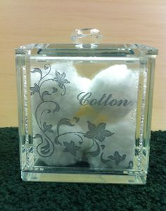Etched Glass box, your design, 35, plus shipping
