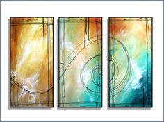 Abstract triptych by R Schoeffel