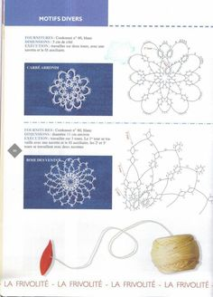 Tatting motifs visual pattern