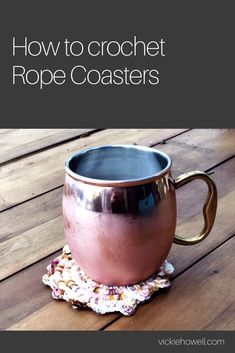 #Crochetpattern and video tutorial for Rope Coasters by Vickie Howell for Knitter's Pride.