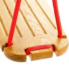 The swing by Lillagunga is  a reinvented version of the classic wooden swing. The swing is a safe, durable and stylish product for both indoor and outdoor use. Router Projects, Wood Projects, Outdoor Projects, Projects For Kids, Wood Crafts, Diy And Crafts, Diy Wood, Woodworking Plans, Woodworking Projects