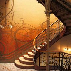 Victor Horta staircase.. One of the most famous Belgian architects and the father of the  art nouveau movement.