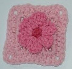 How to Crochet a 3D Flower Granny Square