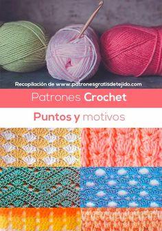 60 patrones crochet by Pat MV - issuu Crochet Stitches Chart, Types Of Stitches, Crochet Motif, Crochet Patterns, Crochet Hats, Crochet Magazine, Cute Beauty, Crochet Books, Crochet Videos