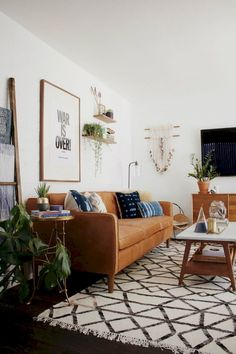 Awesome 88 Beautiful Apartment Living Room Decor Ideas With Boho Style https://roomadness.com/2018/01/13/88-beautiful-apartment-living-room-decor-ideas-boho-style/