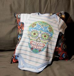 cute sugar skull baby romper!